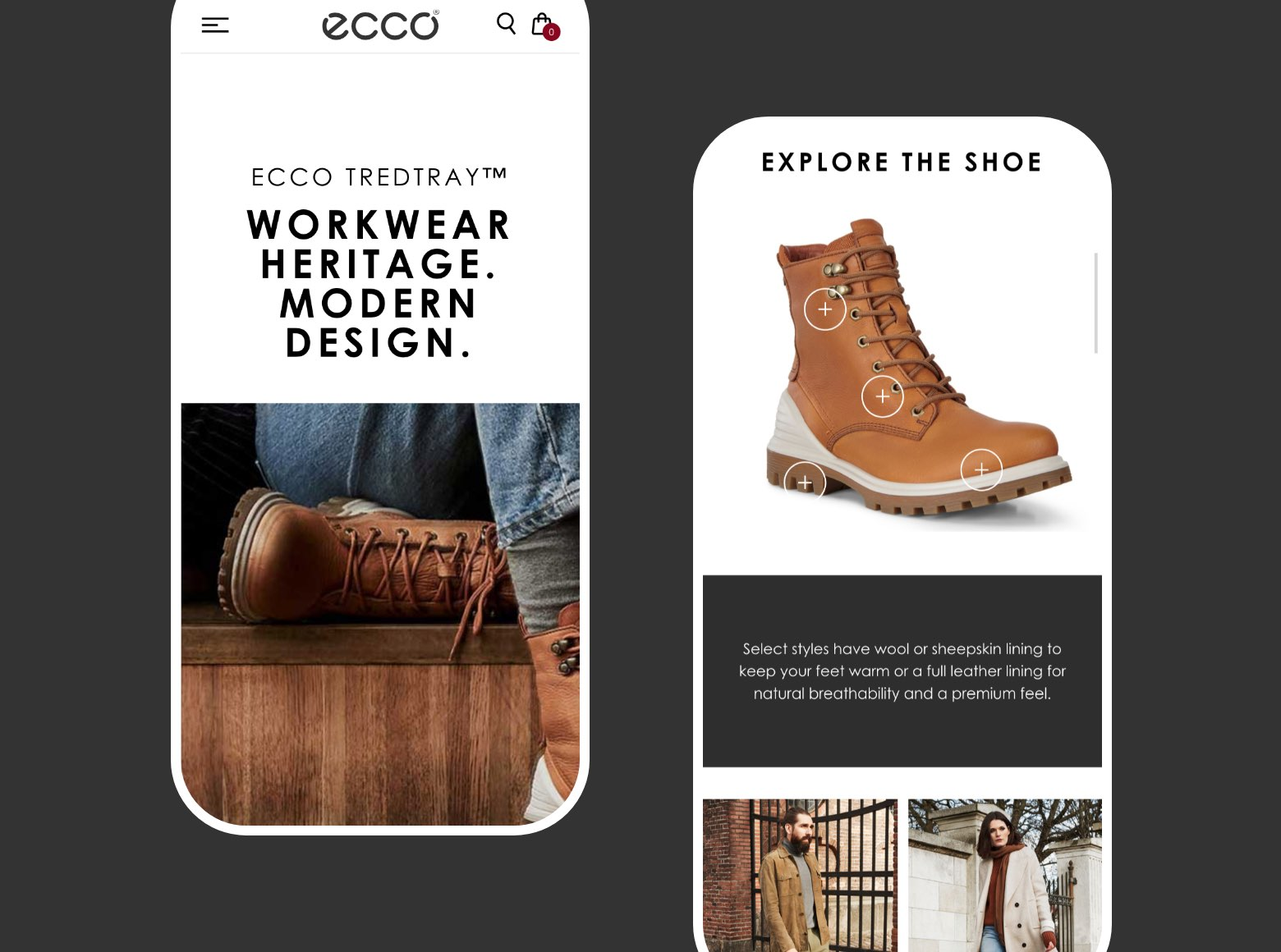 Ecco Landing Pages