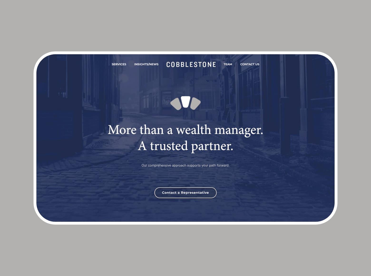 Cobblestone Capital Website