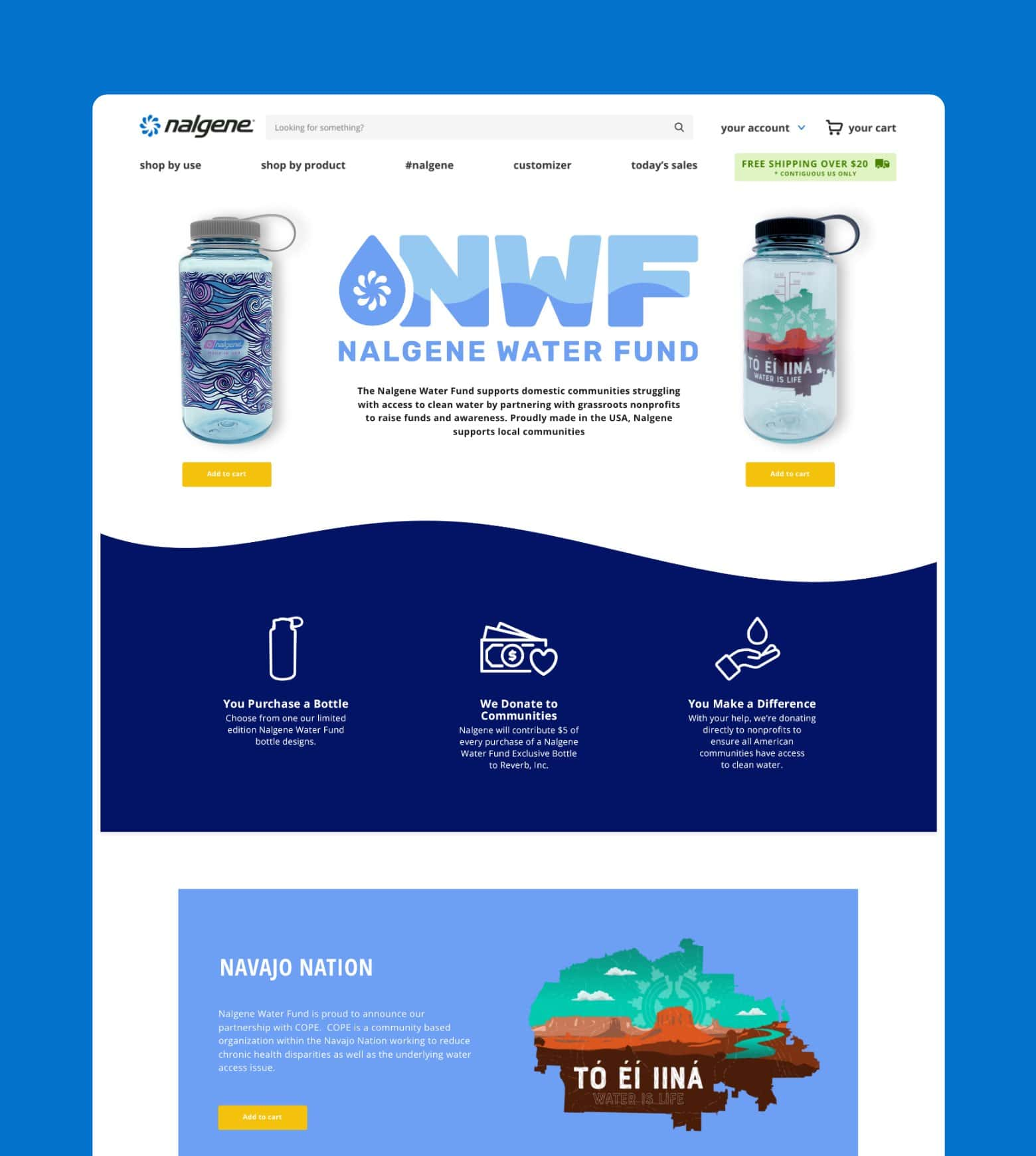 project Nalgene Water Fund Campaign